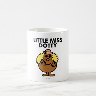 Pequeñas letras negras de Srta. Dotty el | Taza Clásica