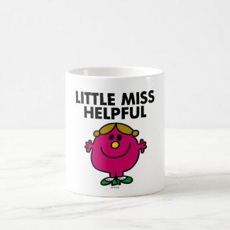 Pequeñas letras negras de Srta. Helpful el | Taza Básica Blanca