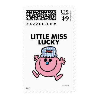 Pequeñas letras negras de Srta. Lucky el | Envio