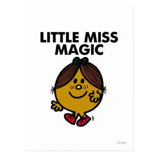 Pequeñas letras negras de Srta. Magic el | Tarjetas Postales