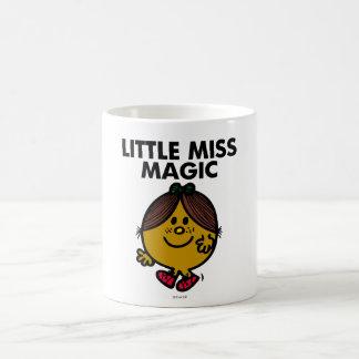 Pequeñas letras negras de Srta. Magic el | Taza Básica Blanca