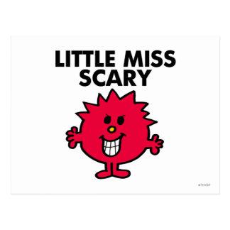 Pequeñas letras negras de Srta. Scary el | Postales