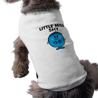 Pequeñas letras negras de Srta. Shy el   Playera Sin Mangas Para Perro