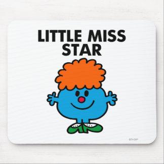 Pequeñas letras negras de Srta. Star el | Alfombrilla De Ratón