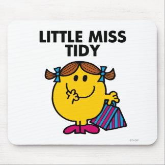 Pequeñas letras negras de Srta. Tidy el | Alfombrilla De Ratón