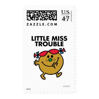 Pequeñas letras negras de Srta. Trouble el | Sellos