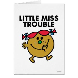 Pequeñas letras negras de Srta. Trouble el | Tarjeta De Felicitación