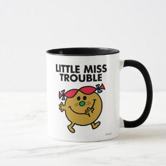 Pequeñas letras negras de Srta. Trouble el | Taza