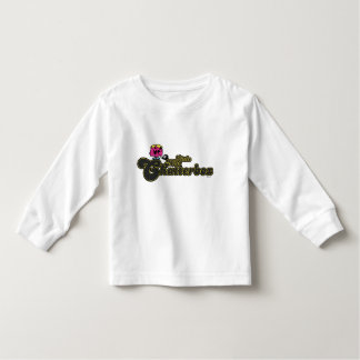 Pequeñas letras verde oscuro de Srta. Chatterbox Camisas