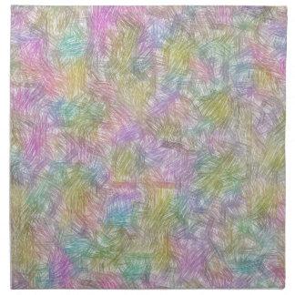 Pequeñas líneas coloridas servilletas de papel