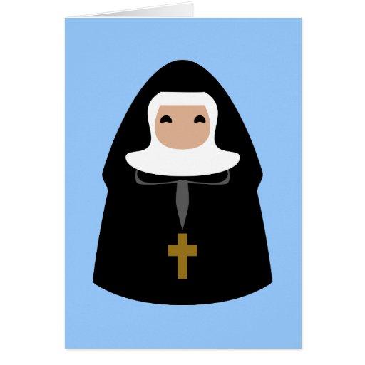 Pequeñas monjas lindas tarjetas
