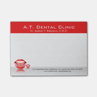 Pequeñas notas del Poste-it® del dentista dental Post-it® Notas