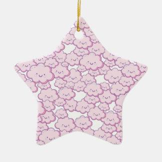 Pequeñas nubes adorno de cerámica en forma de estrella