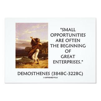 Pequeñas oportunidades que comienzan a menudo gran comunicado personal