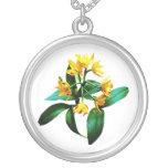 Pequeñas orquídeas amarillas joyeria