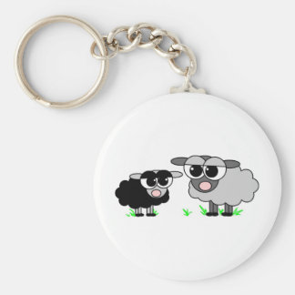 Pequeñas ovejas negras lindas y ovejas de BigGray Llavero