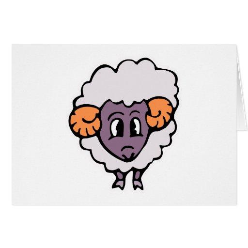 pequeñas ovejas tontas lindas felicitacion