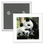 Pequeñas pandas gigantes cariñosas chinas pins