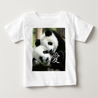 Pequeñas pandas gigantes cariñosas chinas remeras