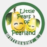 Pequeñas peras de Pearland Pegatinas Redondas