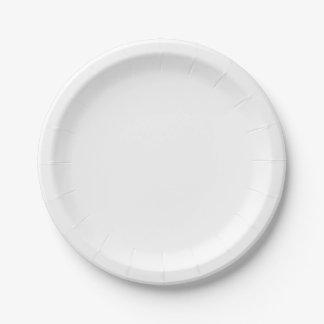 Pequeñas placas de papel plato de papel de 7 pulgadas
