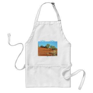 Pequeñas plantas en dunas de arena rojas delantales