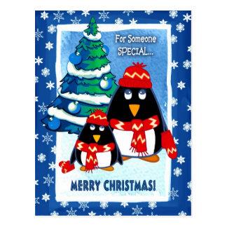 Pequeñas postales divertidas del navidad de los