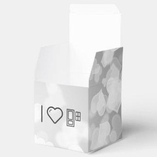 Pequeñas puertas frescas cajas para detalles de boda