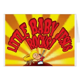Pequeñas rocas de Jesús del bebé Tarjeta De Felicitación