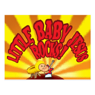 Pequeñas rocas de Jesús del bebé Tarjetas Postales