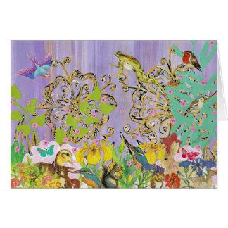 Pequeñas tarjetas de felicitación de las criaturas