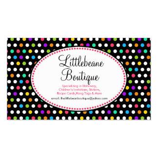 Pequeñas tarjetas de visita bonitas del negocio de