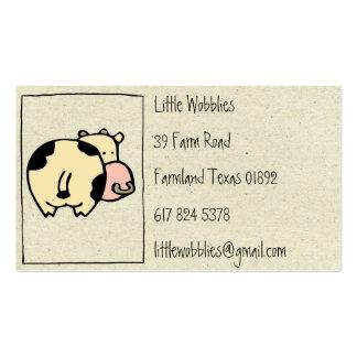 pequeñas tarjetas de visita de la vaca de wobblies