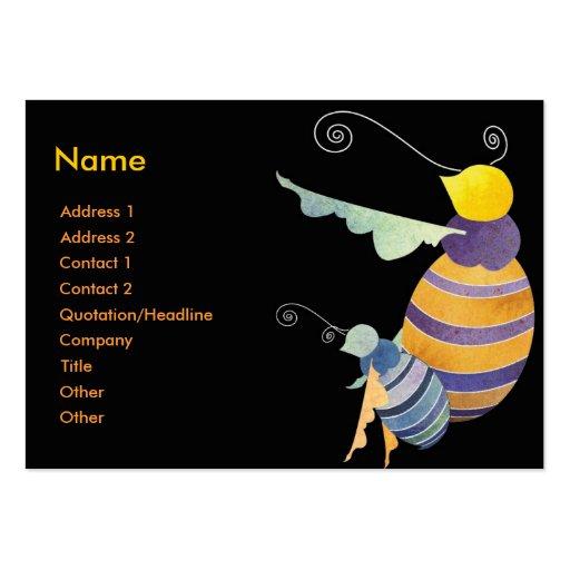 Pequeñas tarjetas de visita lindas de las abejas d