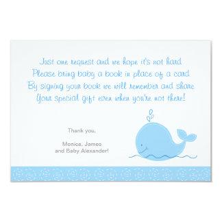 """Pequeñas tarjetas del recinto de la ballena azul invitación 3.5"""" x 5"""""""
