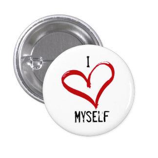 Pequeño, 1 amor redondo mismo del botón I de la Pin Redondo De 1 Pulgada