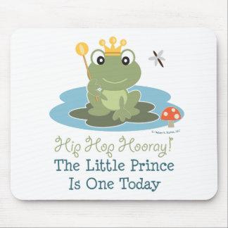 Pequeño 1r cumpleaños Mousepad de príncipe Frog