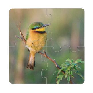 Pequeño Abeja-Comedor que se encarama en una rama, Posavasos De Puzzle