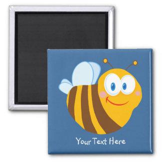 Pequeño abejorro (personalizado) imán cuadrado