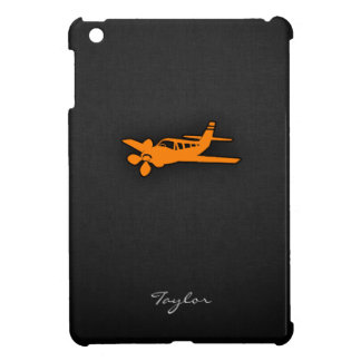 Pequeño aeroplano anaranjado