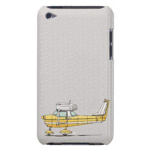 Pequeño aeroplano lindo iPod touch carcasas