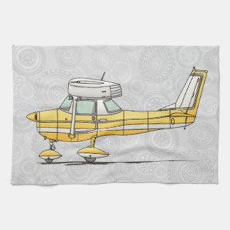 Pequeño aeroplano lindo toalla de cocina
