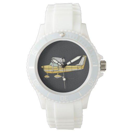Pequeño aeroplano lindo relojes