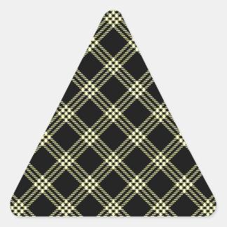 Pequeño amarillo del Diamante-Unmellow de cuatro Pegatina Triangular