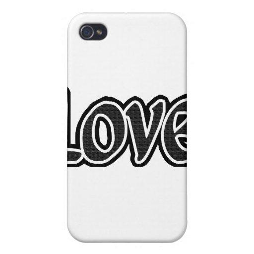Pequeño amor negro del ladrillo iPhone 4 carcasa
