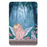 Pequeño ángel de los milagros y imán flexible del