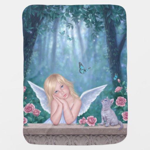Pequeño ángel de los milagros y manta del bebé del mantita para bebé