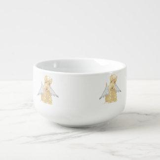 Pequeño ángel del escocés cuenco para sopa