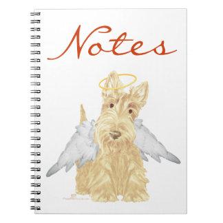 Pequeño ángel del escocés spiral notebook