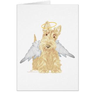 Pequeño ángel del escocés tarjeta de felicitación